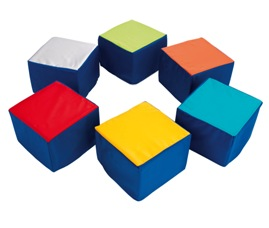Pack of six Seating Cubes